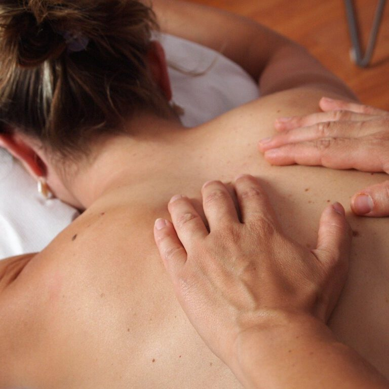 physiotherapy, massage, back